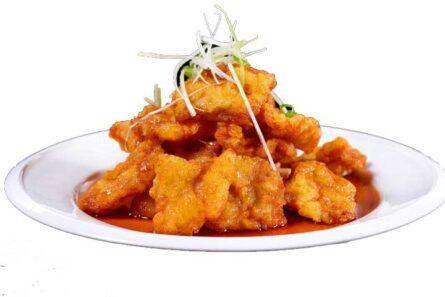 GuoBao svinekød (sprød og sur-sød) og ris