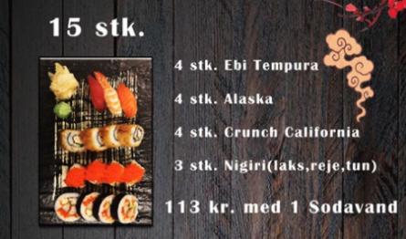 Sushi Månedens Tilbud (15 stk)